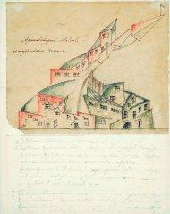 Н.А.Ладовский (Живскульптарх) Архитектурное явление коммунального дома Перспектива.1920